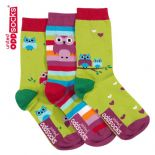 United Oddsocks Owls  - pack of 3 girl's odd socks (not pairs).